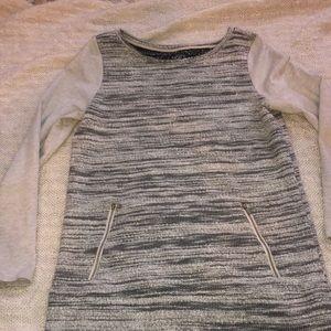 Grey Marled Tunic Sweater